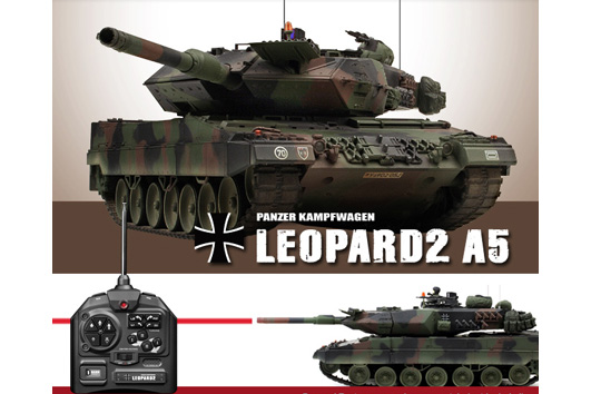 rc leopard 2 a5 nato bundeswehr ma stab 1 24 ferngesteuert. Black Bedroom Furniture Sets. Home Design Ideas